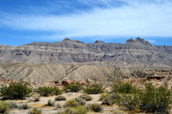 Paysages sur Pierce Ferry Road, Meadview Parc national de canyon grand, Arizona photo libre de droits
