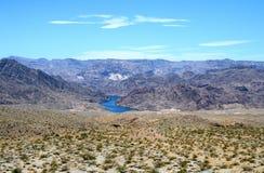 Paysages sur Pierce Ferry Road, Meadview Parc national de canyon grand, Arizona Photo libre de droits