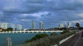 Paysages urbains des Etats-Unis d'horizon de Miami Beach clips vidéos