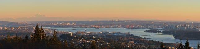 Paysages urbains panoramiques de Vancouver Photographie stock