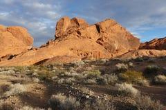 Paysages, vallée de parc d'état du feu, Nevada Photos stock