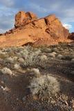 Paysages, vallée de parc d'état du feu, Nevada Photographie stock libre de droits