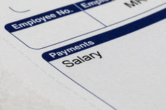 Payslip and Money Royalty Free Stock Image