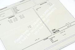 Payslip Royalty Free Stock Photo