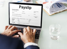 Payslip Purchase Order Form Concept Royalty Free Stock Photo
