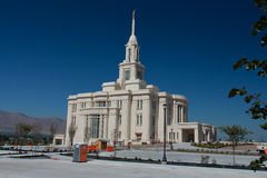 Payson Utah Mormon Temple Stock Photo