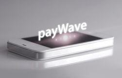 Paywave with smartphone Stock Photography