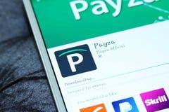 Payza κινητό app Στοκ Φωτογραφίες