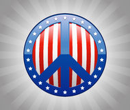 Paz americana Imagens de Stock Royalty Free