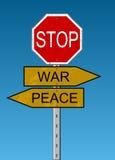Paz & guerra Fotografia de Stock Royalty Free