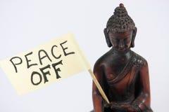Paz apagado Imágenes de archivo libres de regalías
