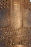 Paz Bell del mundo Fotos de archivo