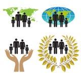 Paz das famílias ilustração royalty free