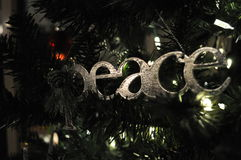 Paz de la Navidad Imagen de archivo libre de regalías
