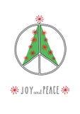 Paz de la Navidad Fotos de archivo