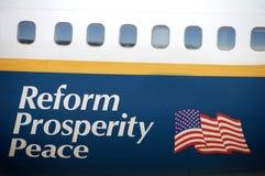 Paz de la prosperidad de la reforma Foto de archivo libre de regalías