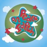 Paz de la tarjeta de felicitación de la Navidad Fotografía de archivo