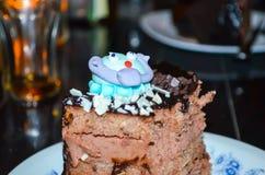 Paz de la torta de chocolate Fotos de archivo