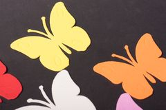 Paz de los juguetes de los animales de las mariposas Fotografía de archivo