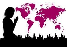 Paz de mundo ilustração stock