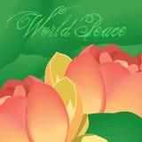 Paz de mundo stock de ilustración