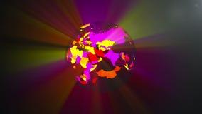 Paz de mundo - concepto de mundo que viene junto como uno, animación del mapa ilustración del vector