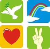 Paz del amor de la esperanza de la fe stock de ilustración