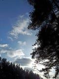 Paz del campo del país de las maravillas del invierno hermosa imagen de archivo