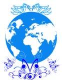 Paz do mundo Fotografia de Stock Royalty Free