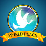 Paz do mundo Foto de Stock Royalty Free