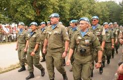 Paz do UN que mantem veteranos imagens de stock royalty free