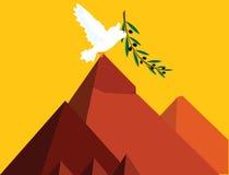 Paz em Egipto ilustração do vetor