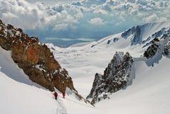 Paz en la mucha altitud Foto de archivo libre de regalías