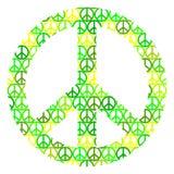 Paz isolada no fundo branco Fotografia de Stock Royalty Free