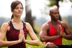 A paz Meditate imagem de stock royalty free