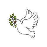 A paz mergulhou com ramo de oliveira Foto de Stock Royalty Free