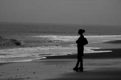 Paz na praia Fotos de Stock Royalty Free
