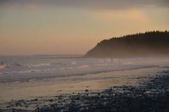 Paz na praia Imagens de Stock