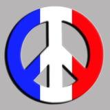 Paz para París Fotos de archivo