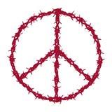 Paz prendida farpada ilustração do vetor