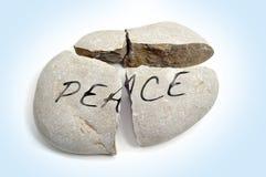 Paz quebrada Foto de archivo libre de regalías