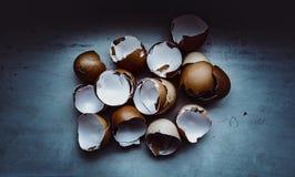 Paz quebradas dos ovos Imagens de Stock