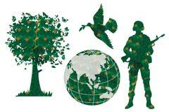 Paz verde del mundo Stock de ilustración