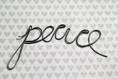 paz y amor Imágenes de archivo libres de regalías