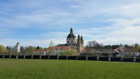 Pazaislis monastery and church is a large monastery complex in Kaunas, Lithuania Royalty Free Stock Image