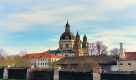 Pazaislis monastery and church is a large monastery complex in Kaunas, Lithuania Stock Image