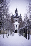 Pazaislis monastery and church in winter, Kaunas, Lithuania stock photo