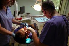 Paziente al dentista Fotografia Stock