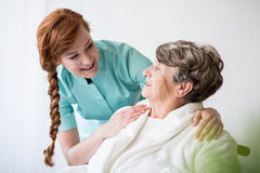 Paziente con alzheimer Immagine Stock Libera da Diritti