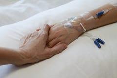 Paziente con IV il gocciolamento fotografia stock libera da diritti
